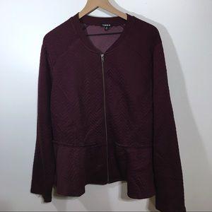 Torrid Plum Zip Up Jacket, 4